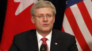 Outgoing Prime Minister Stephen Harper