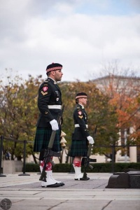 Cpl. Nathan Cirillo (foreground) standing to post at the National War Museum