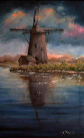 Before The Storm - The Netherlands (oil on canvas)
